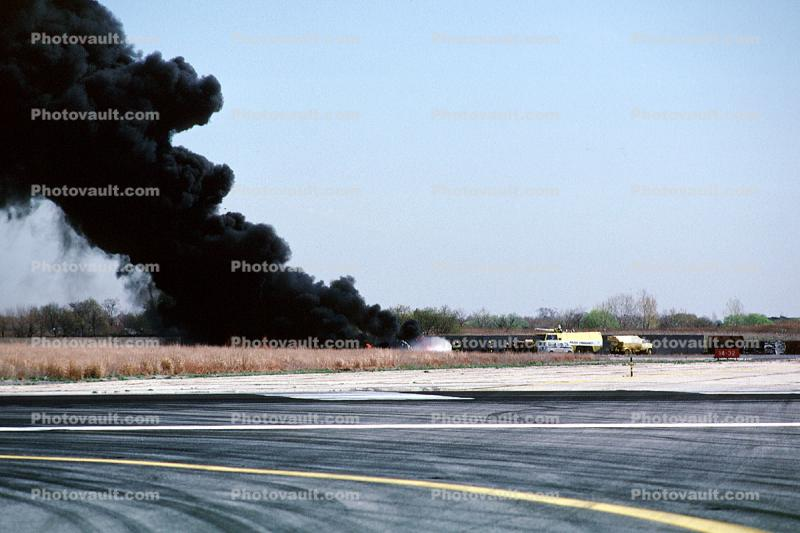 Aircraft Rescue Fire Fighting, (ARFF), Thick Black Smoke