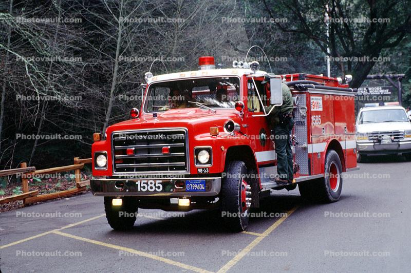 International Fire Engine 1585, Muir Woods, Marin County, California