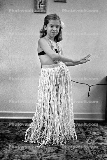 Hips, Arms, Smiles, Hula Dance, Grass Skirt, 1950s