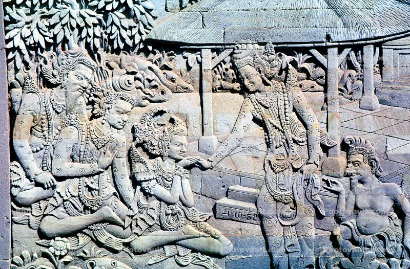 Stone Carving, figures, bas-relief