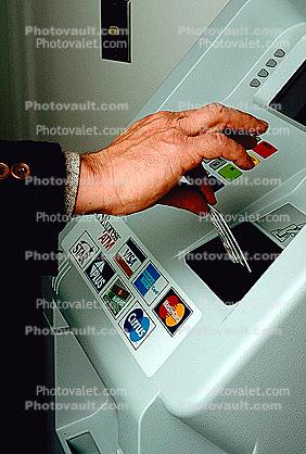 ATM, Automated banking machine, Cash Dispenser, Convenience Store, Credit Card, C-Store, hand
