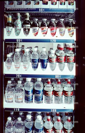 Waters, Bottled Water, bottles, refrigerated, cold