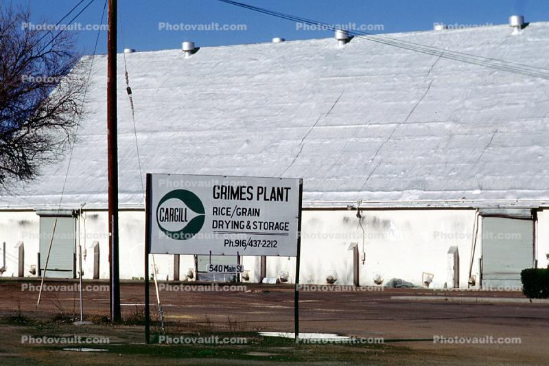 Grimes Plant, Rice grain drying and storage, Rice, north of Sacramento California