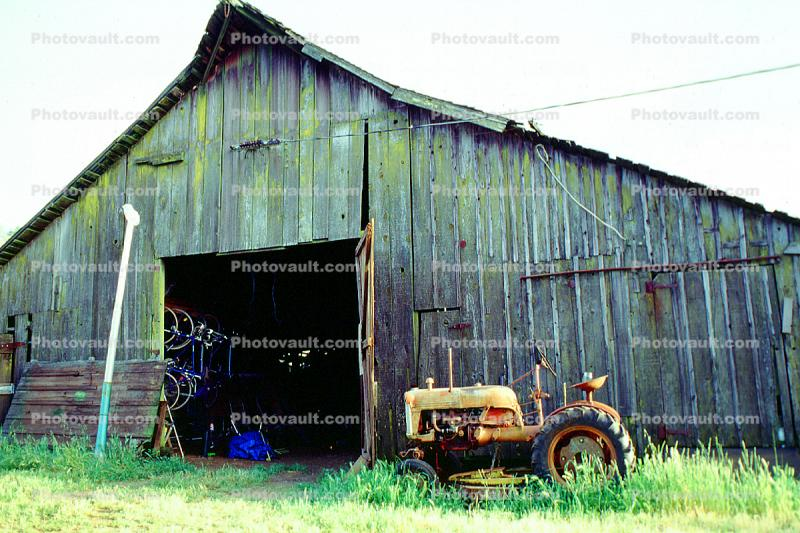 Dilapidated Barn, Tractor, Petaluma, California
