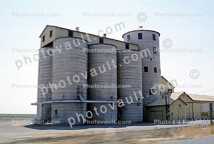Silo, Drier and Elevator, south of Gustine, San Joaquin Valley, Central Valley