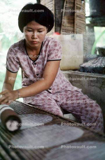Rice Paper Factory, Can Tho, Vietnam