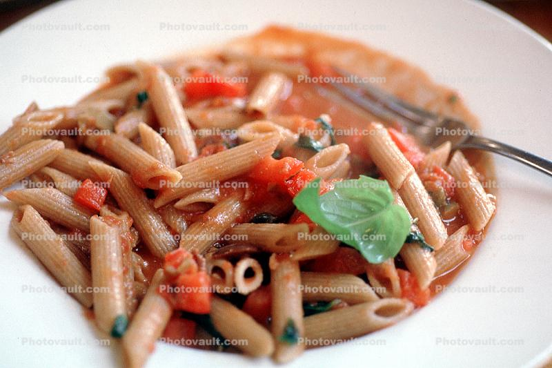 Whole Wheat Pasta, basil, marinara