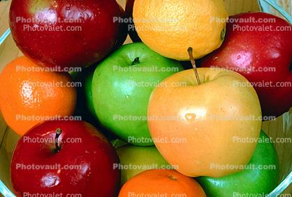 Apple Bowl, red, yellow, green