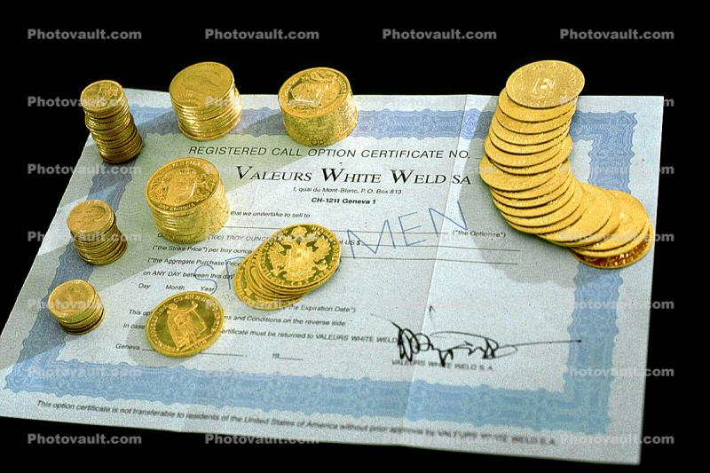 Gold Coins, Stocks and Bonds
