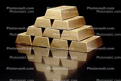 solid gold bricks