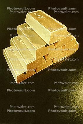 Solid Gold Bricks Bars Images