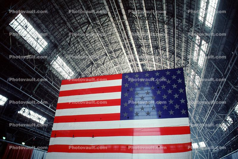 Moffett Field Airship Hangar, Old Glory, USA, United States of America, Star Spangled Banner