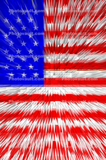Old Glory, USA, United States of America, Star Spangled Banner, Paintography