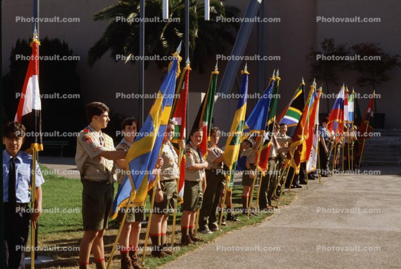 Boy Scouts, Color Guard, United Nations 50th Anniversary, San Francisco, California
