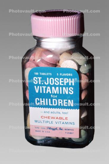 St, Joseph vitamins for children, bottle