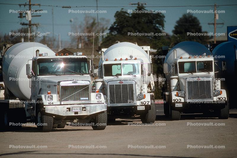 Cement Mixers, Volvo, Peterbilt