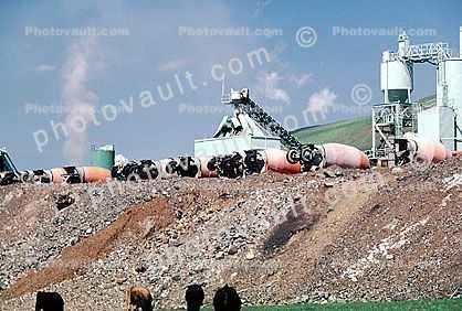 Cement Mixer Trucks, conveyer belts, Benecia, California