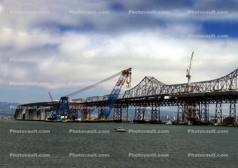 Left Coast Lifter, Giant Floating Crane, Construction of the new Bay Bridge