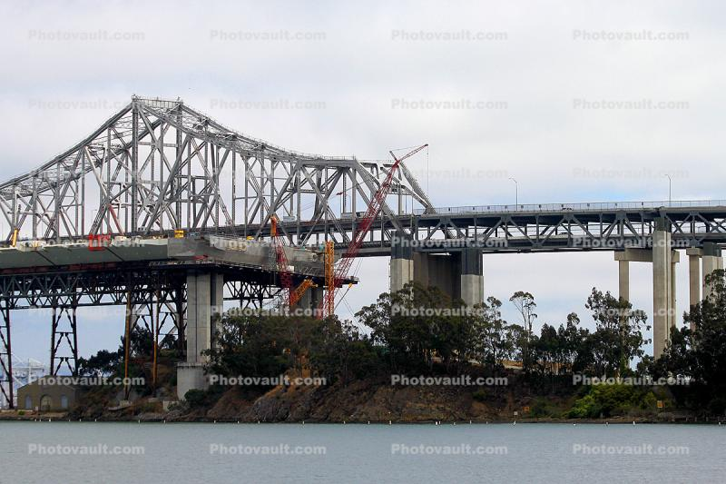 Construction of the new Bay Bridge