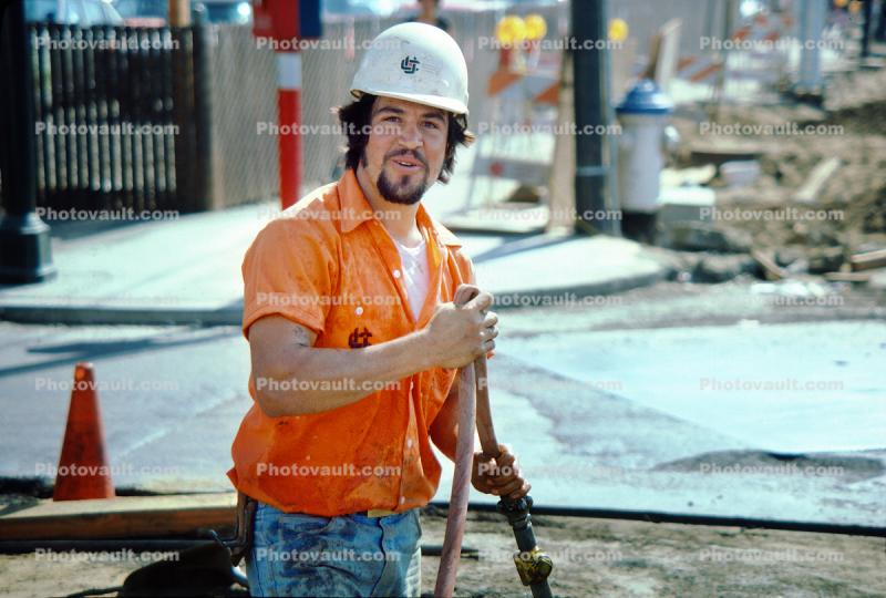Construction Worker, Man, Hardhat