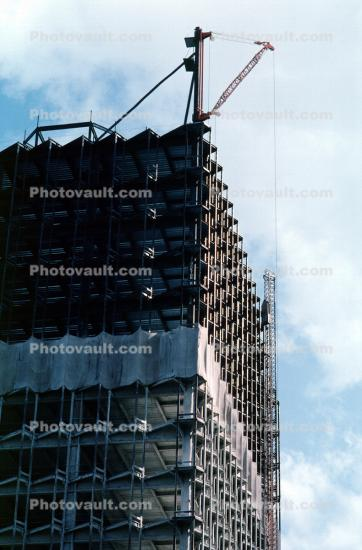 Tower Crane, Steel Frame, Office Building Construction, Highrise
