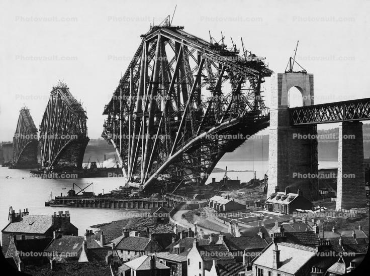 Forth Bridge Railway, 1890, over the Firth of Forth