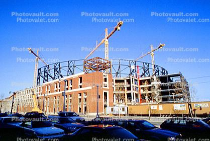 King Street corridor, Tower Crane, Pacbell Ballpark Construction