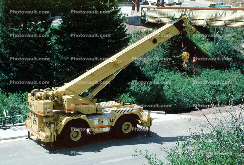 Grove RT855B Rough Terrain Crane, Wheeled Telescopic Crane, telehandler, Winter Park Colorado