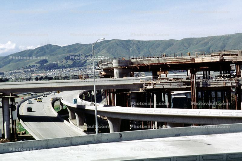 Upgrade of SFO, US highway 101, San Bruno Mountain