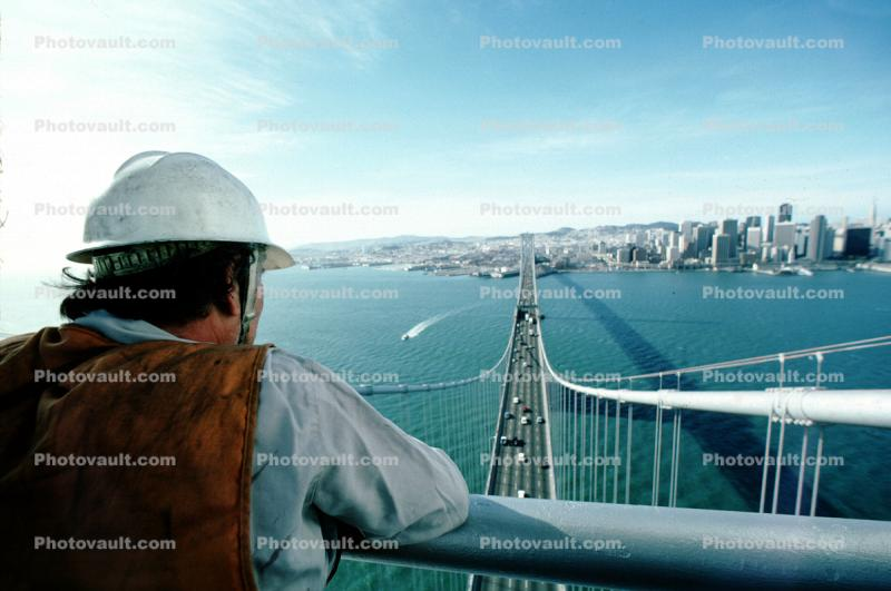 Cityscape, skyline, building, skyscraper, Downtown, the Embarcadero, hardhat