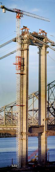 Alfred Zampa Memorial Bridge, suspension bridge, Zampa Bridge, Vallejo Bridge, Crockett, Carquinez Strait, Tower Crane