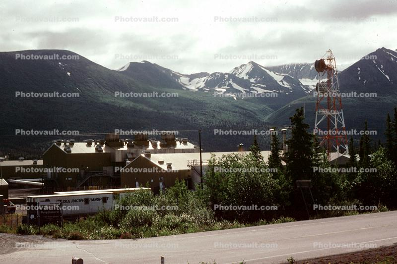 Pump House, Station, Mountains, repeater communication tower, Glenallen, Alaska Pipeline, Mountains
