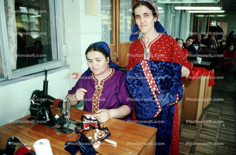 Women, Sewing Machine