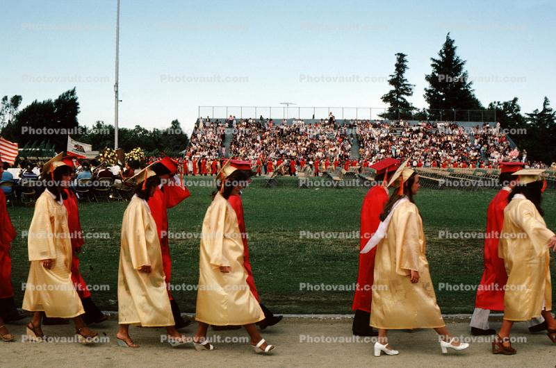 Cupertino High School, Graduation Day, Cap and Gown, June 1981
