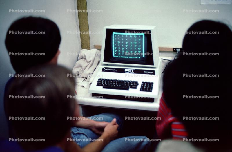 Commodore PET Computer, screen, monitor, 1984