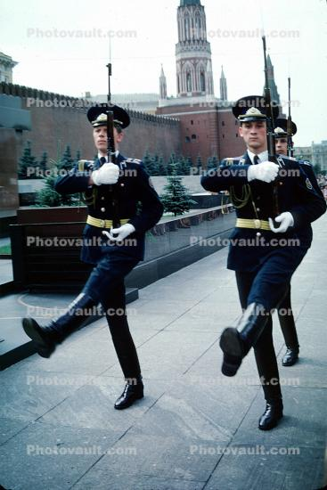 Changing of the Guards for Lenins Tomb, Red-Square, Russian Army