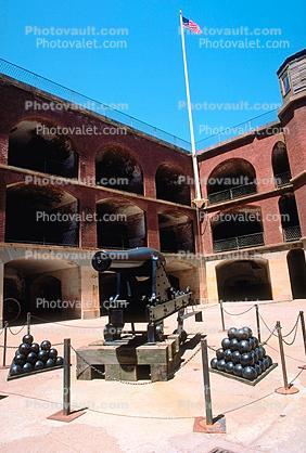 Rodman Gun, Cannon, Cannon Balls, civil war fort, Fort Point, Artillery