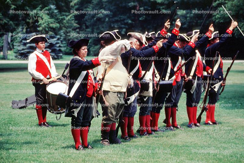 Revolutionary War, combat, battlefield, troops, uniforms, americana, soldiers, colonial, rifles, shooting, American Revolution, History, Historical, British Army, War of Independence, infantry, soldiers, musket, gun, firepower