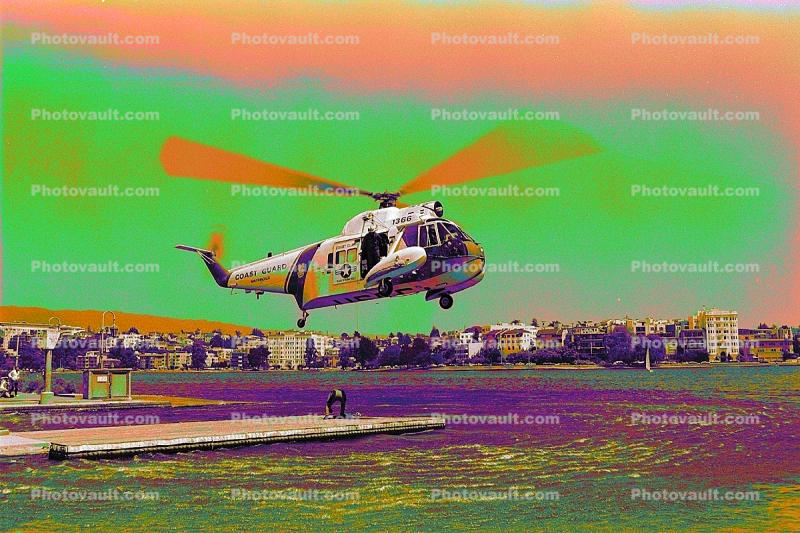 Psychedelic, HH-52 Sea Guard, Lake Merritt, Downtown Oakland, 1366, USCG, psyscape