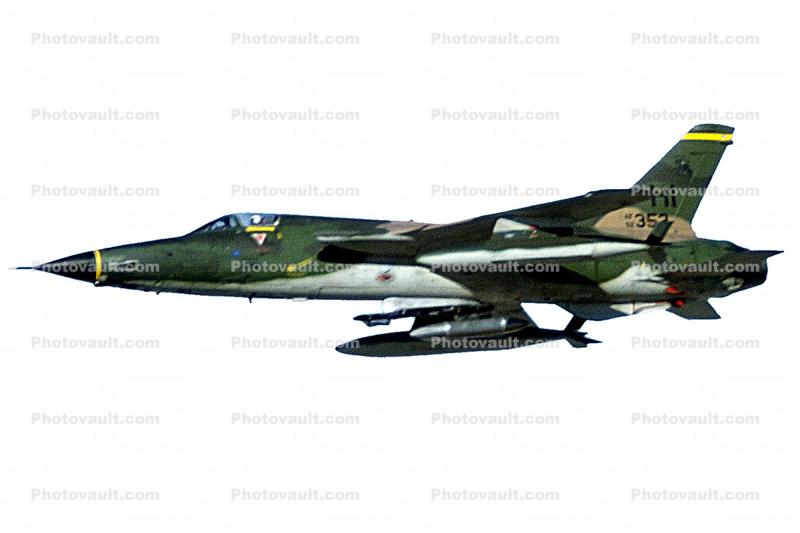Republic F-105 Thunderchief, photo-object, object, cut-out, cutout