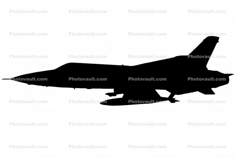 Republic F-105 Thunderchief Silhouette, logo, shape