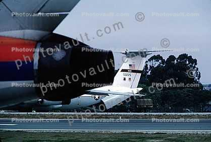 Lockheed C-141 StarLifter, Monterey Airport, California, United States Air Force, USAF