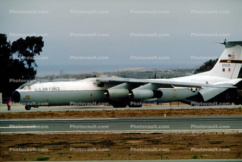 50225, MAC, Lockheed C-141 StarLifter, Monterey Airport, California,  United States Air Force, USAF