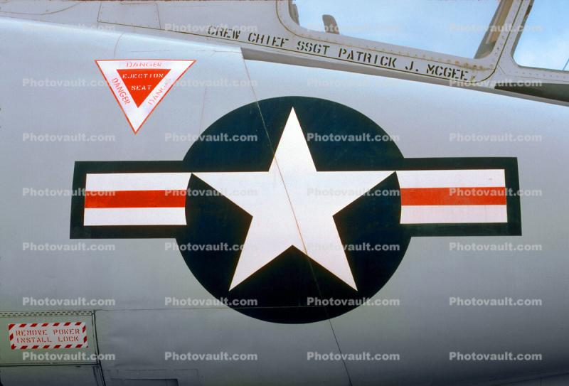 F-106 Delta Dart, Hill Air Force Base, Ogden, Utah, Air Base, 1950s, Roundel