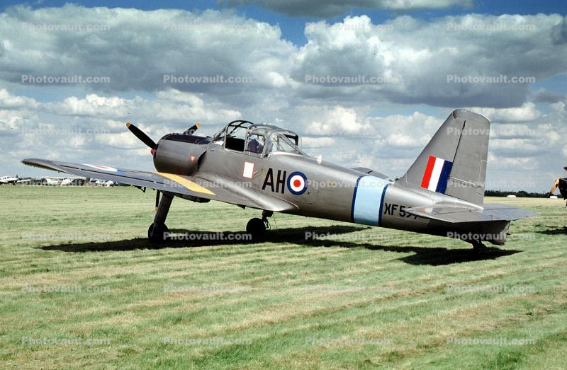 XF-597, French Air Force, Percival Provost T52 piston-engined basic trainer