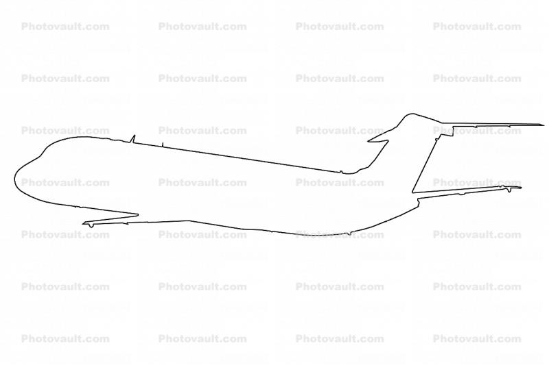 Douglas C-9 Nightingale outline, line drawing, shape