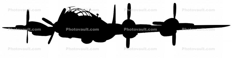 Boeing WB-50D Superfortress silhouette, shape