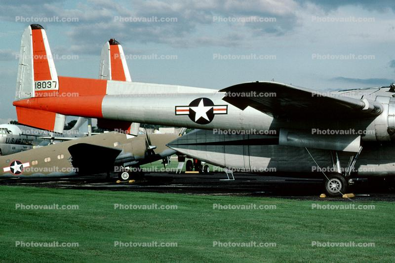 Fairchild C-119J Flying Boxcar, 18037, USAF 51-8037, Wright-Patterson Air Force Base, Fairborn, Ohio