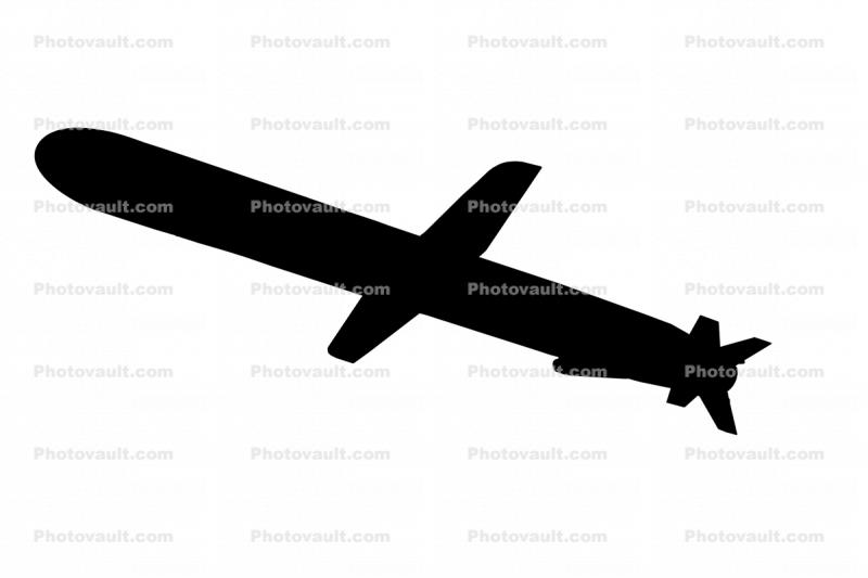 BGM-109G silhouette, Gryphon Ground Launched Cruise Missile, UAV, drone, shape, logo