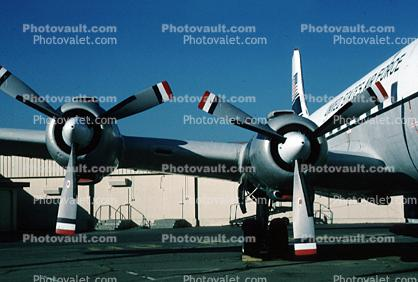 R-2800 Radial Engines, Douglas C-118A Liftmaster, 131602, Travis Air Force Base, California